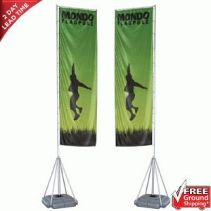 Mondo Flagpole Outdoor Banner Stand