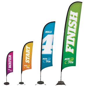 Premium Sail Sign Razor Banner Stands Different Sizes
