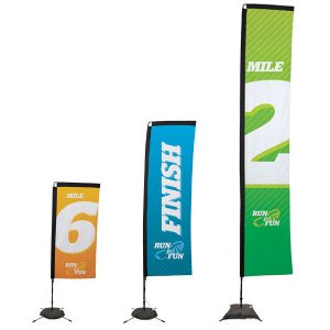 Sail Sign Rectangle Banner Stands Different Sizes