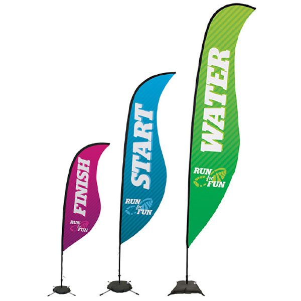 Sail Sign Sabre Banner Stands Different Sizes