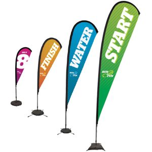Sail Sign Tear Drop Banner Stands Different Sizes
