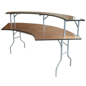Serpentine Plywood Folding Tables, Banquet Tables, Portable Table, Trade Show Table, Truss Table, Hospitality Table