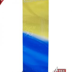 """Silver Step Retractable Banner Stand - 36"""""""