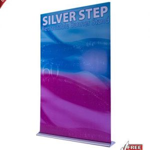 """Silver Step Retractable Banner Stand - 60"""""""