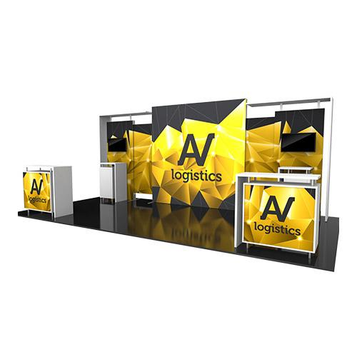 Hybrid Pro Modular Kit 11, hybrid trade show displays, Modular displays, hybrid display, hybrid exhibits, hybrid displays, custom modular exhibits