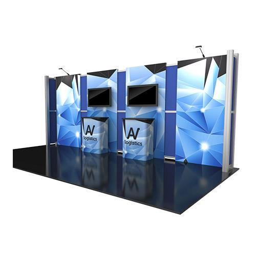 Hybrid Pro Modular Kit 13, hybrid trade show displays, Modular displays, hybrid display, hybrid exhibits, hybrid displays, custom modular exhibits