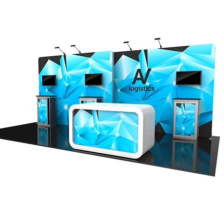 Hybrid Pro Modular Kit 14, hybrid trade show displays, Modular displays, hybrid display, hybrid exhibits, hybrid displays, custom modular exhibits