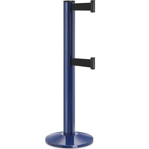 Beltrac-50-3000 Double Belt Stanchion 13ft Blue