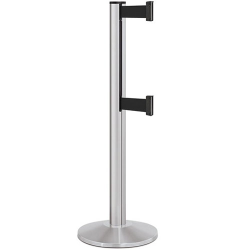 Beltrac-50-3000 Double Belt Stanchion Satin Aluminum
