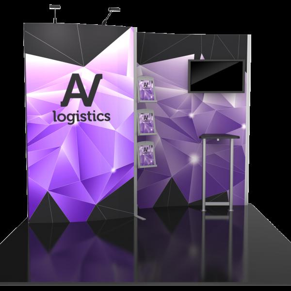 Hybrid Pro Modular Kit 02, hybrid trade show displays, Modular displays, hybrid display, hybrid exhibits, hybrid displays, custom modular exhibits