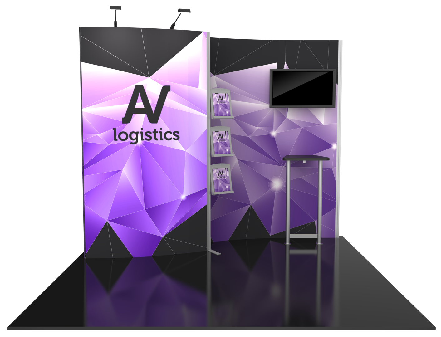 Hybrid Pro Modular Kit 02, hybrid trade show displays, Modular displays, hybrid display, hybrid exhibits, hybrid displays, custom modular exhibits