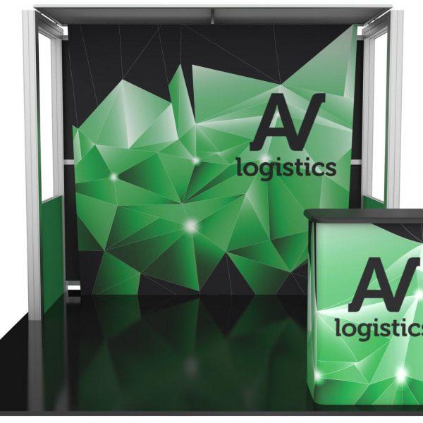Hybrid Pro Modular Kit 04, hybrid trade show displays, Modular displays, hybrid display, hybrid exhibits, hybrid displays, custom modular exhibits