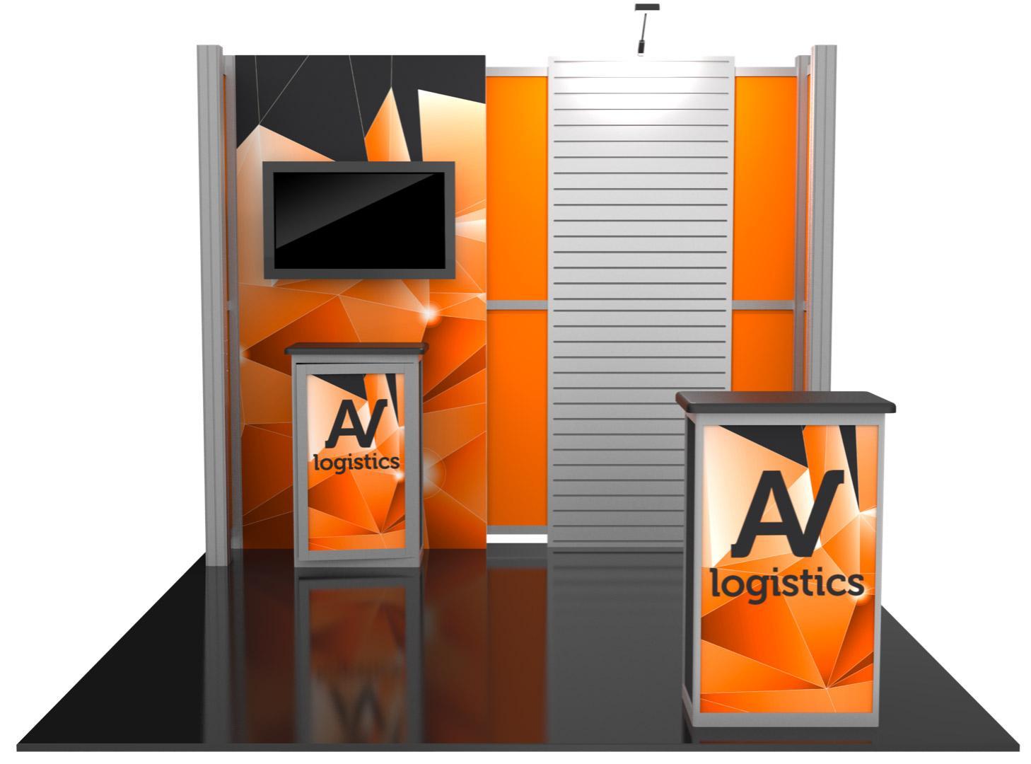 Hybrid Pro Modular Kit 08, hybrid trade show displays, Modular displays, hybrid display, hybrid exhibits, hybrid displays, custom modular exhibits