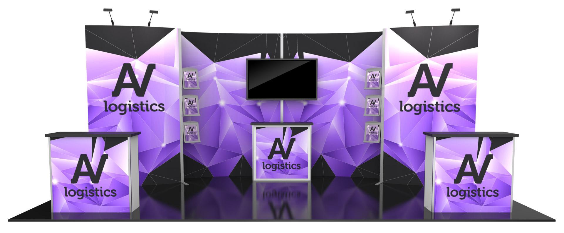 Hybrid Pro Modular Kit 10, hybrid trade show displays, Modular displays, hybrid display, hybrid exhibits, hybrid displays, custom modular exhibits