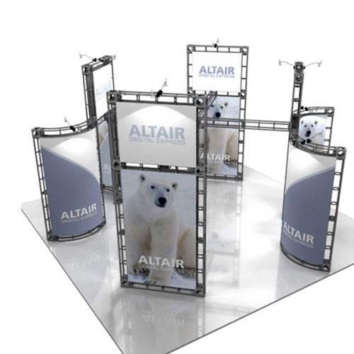 Orbital Truss Altair 20 x 20 Exhibit Booths