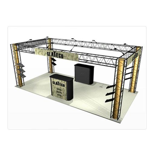 EZ-12 10x20 Slate 8 Display Booth Truss