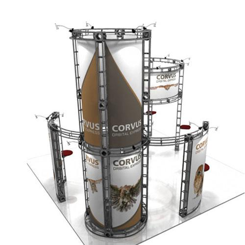 Orbital Truss Corvus 20 x 20 Exhibit Booth
