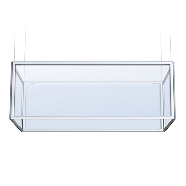 Rectangular Perfex Sky Frame Hanging Display