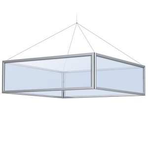 Square Perfex Sky Frame Hanging Display
