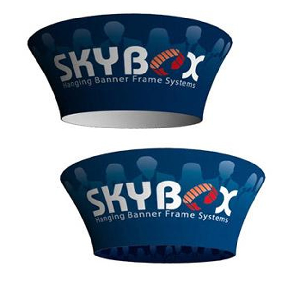 Trade Show Skybox Tapered Circle Hanging Signs