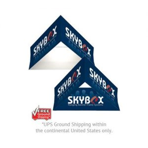 Exhibit Skybox Triangle Hanging Signs