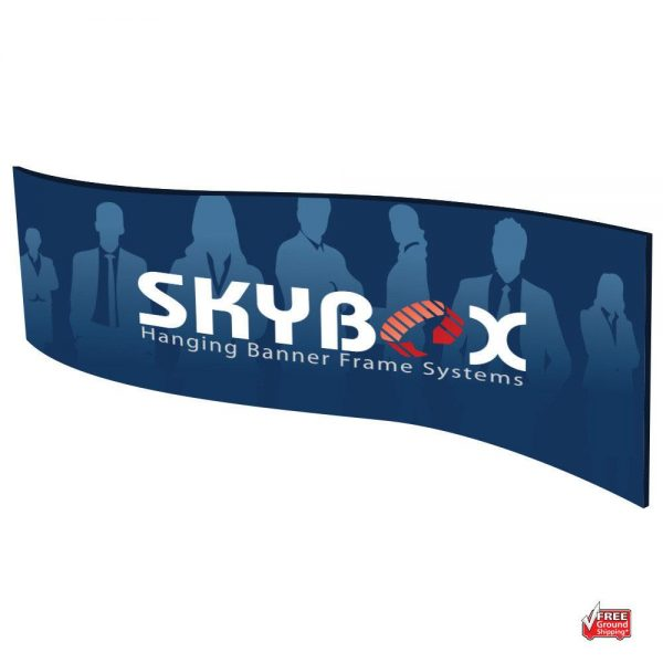Trade Show Display Hanging Skybox Wave Signs