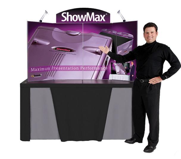 ShowMax Briefcase Display