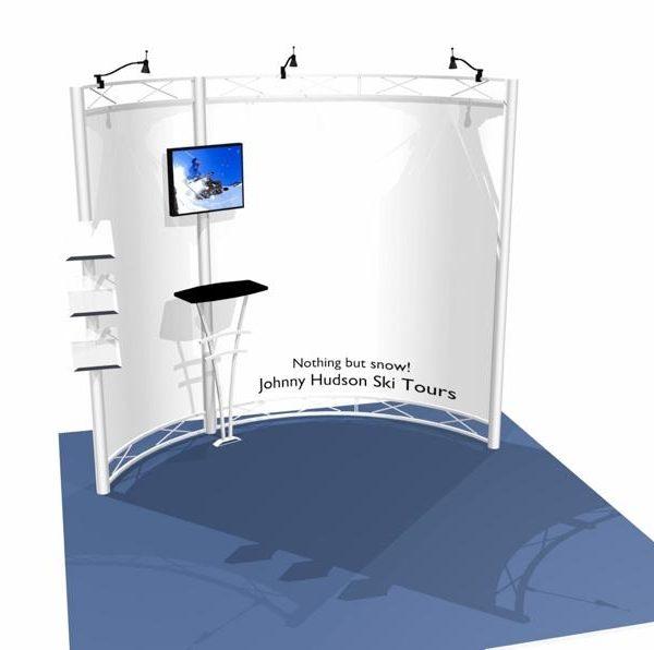 Hyperlite Hybrid Truss Extrusion Display System 10 x 10 Curve