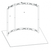 Hyperlite Hybrid Truss Extrusion Display System 10 x 10 Curve frame