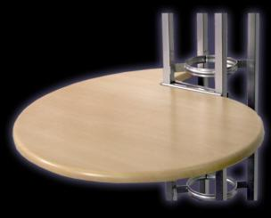 Orbital Scallop Shaped Table Tops