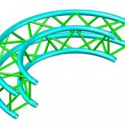 Square Truss Curved Segement