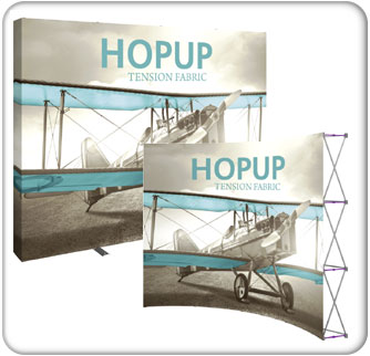 10ft Tension Fabric Hopup Displays