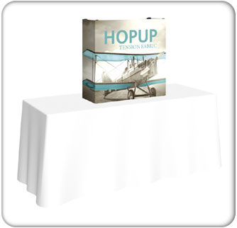 2.5ft tabletop hopup display tension fabric graphic