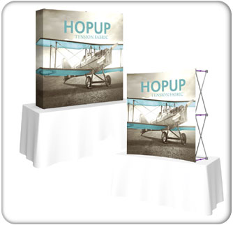 5.5ft table top HopUp Tension fabric display