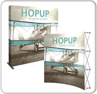 8ft Full Height Tension Fabric HopUp Displays