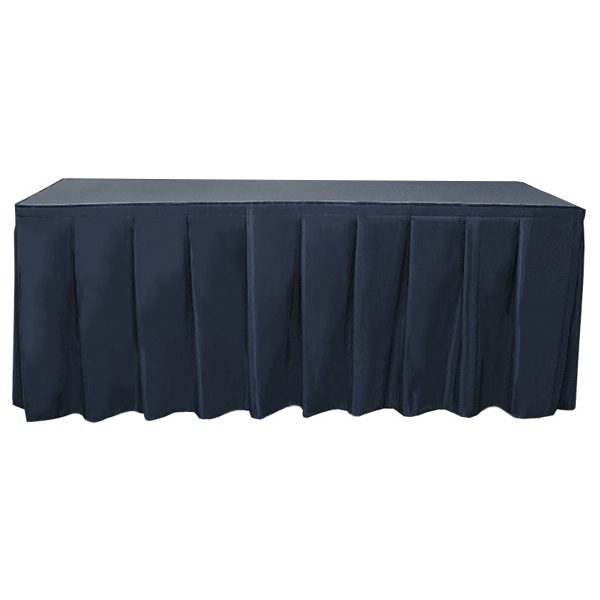 Wyndham Blank Table Skirting accordion table
