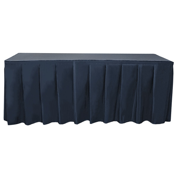 Wyndham Blank Table Skirting accordion table