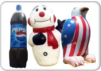Inflatable Displays custom-shaped