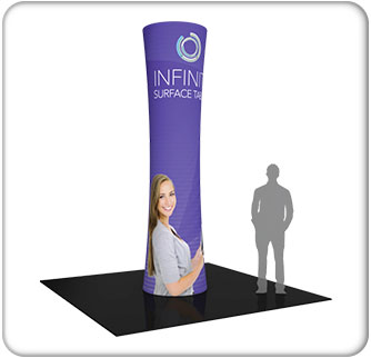 12ft. cylindrical fabric graphic tower