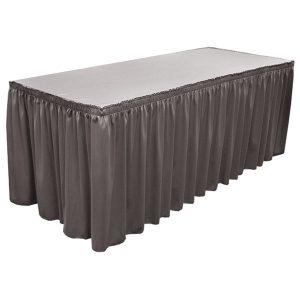 Wyndham Blank Table Skirting shirred table