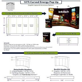 energy x pop up system graphics