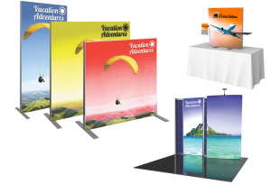 Vector Frame Tension Fabric Displays