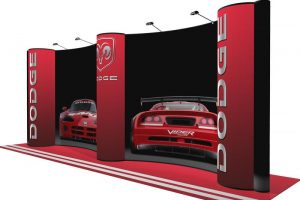 energy x 20ft gullwing pop up display