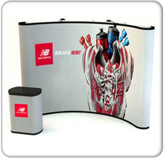 10ft curve budget graphic mural pop up graphic package