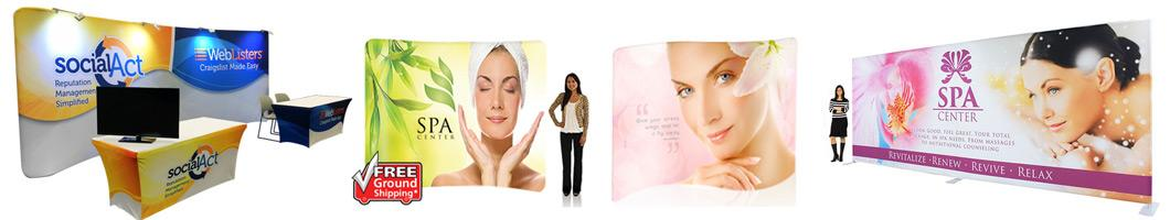Waveline Tension Fabric Display Media