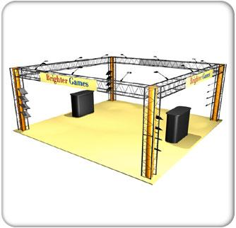 CRYSTAL 20' x 20' Display Rentals