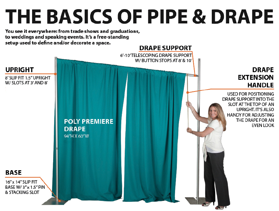 pipe and drape pipe drape systems trade show pipe drape