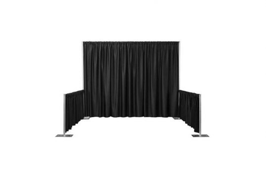 black pipe & drape display