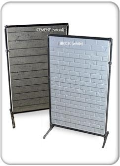 Pipe Style Free Standing Slatwall