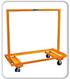 orange storage cart